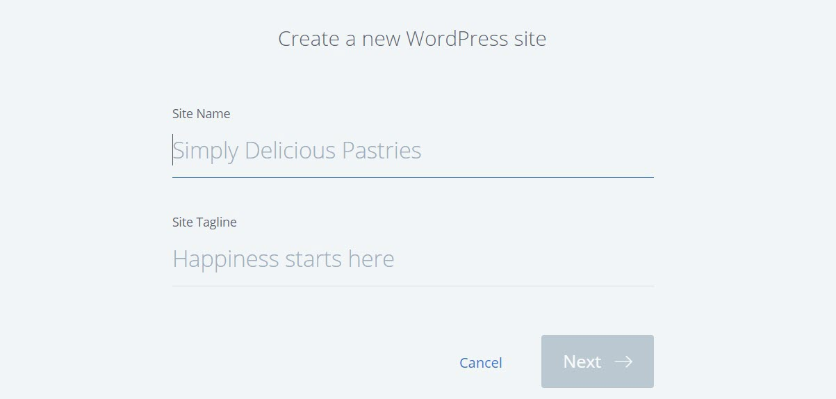 create a new wordpress website on bluehost