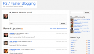 live blogging wordpress theme