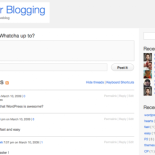 Twitter Like Live Blogging WordPress Theme P2