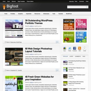 Premium WordPress Theme for Design Blog | Bigfoot