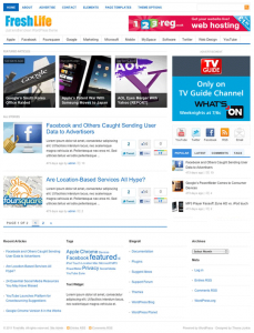 mashable like wordpress theme freshlife