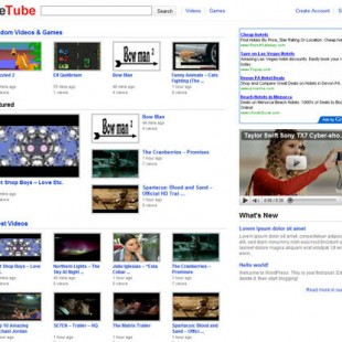 YouTube Like WordPress Theme For Video Blogging