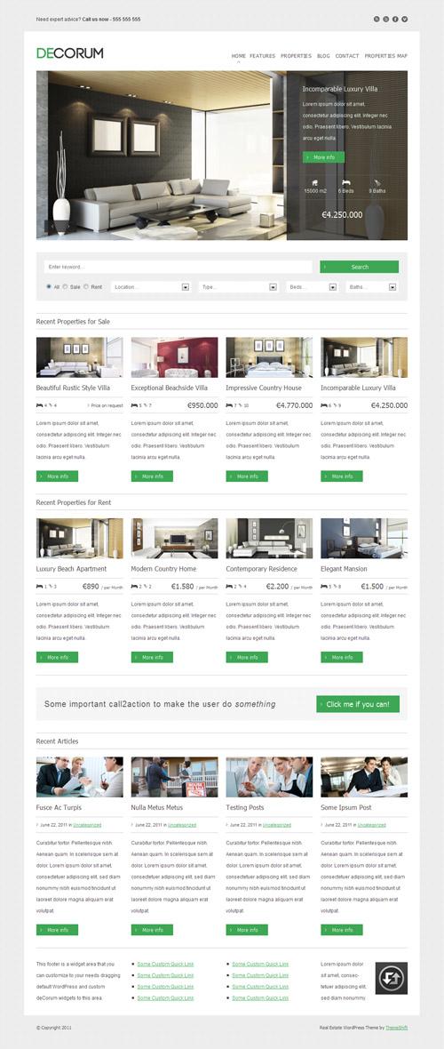 Best real estate wordpress themes decorum wordpress theme maxwellsz