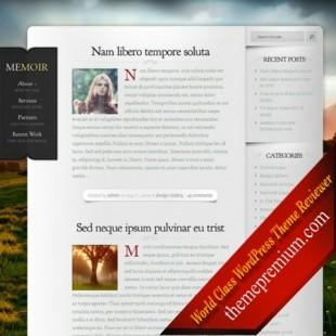Memoir Traditional Blogging WordPress Theme: Elegant Theme Club