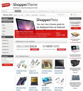ECommerce WordPress Theme shopperpress