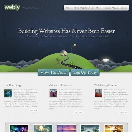 Creative Business and Portfolio WordPress Theme Webly