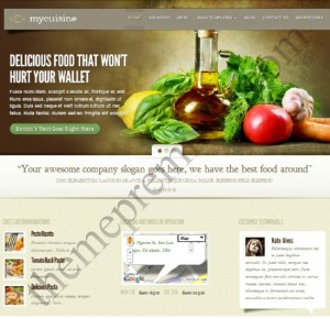 MyCuisine WordPress Theme for Hotel and Food Websites