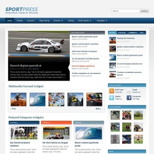 wordpress sports magazine theme