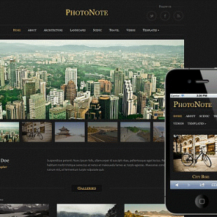 Responsive and Touch Enabled Photography WordPress Theme PhotoNote